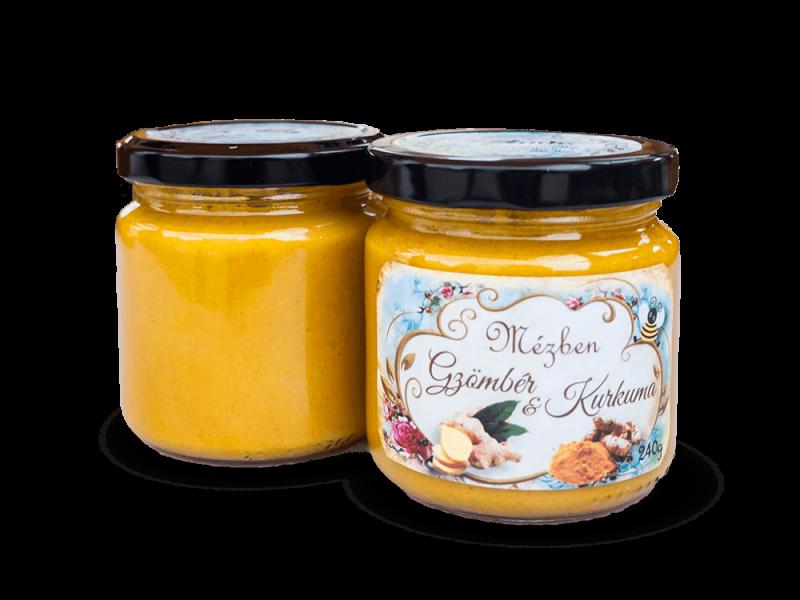 Gyömbér és kurkuma méz – Miere Naturala Boda - www.mierenaturalaboda.ro - turmeric - curcuma-miere-ghimbir-ginger-honey-organic-natural-001