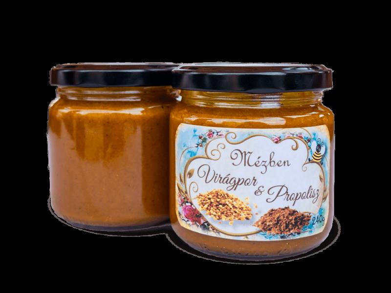 Mézben propolisz és virágpor – Miere Naturala Boda - www.mierenaturalaboda.ro - viragpor-propolis-honey-organic-natural-004