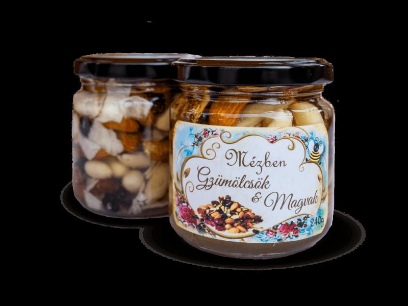 mézben magvak és gyümölcsök – Miere Naturala Boda - www.mierenaturalaboda.ro - mix-seminte-mezben magvak-seeds-in-honey-organic-natural-002
